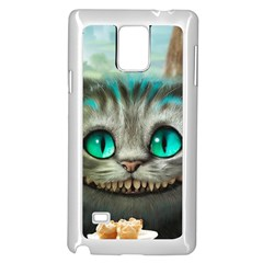 Cheshire Cat Samsung Galaxy Note 4 Case (white) by Samandel