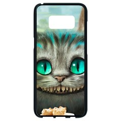 Cheshire Cat Samsung Galaxy S8 Black Seamless Case by Samandel