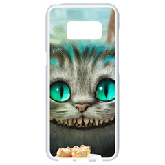 Cheshire Cat Samsung Galaxy S8 White Seamless Case by Samandel