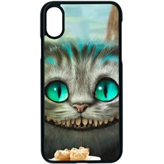 Cheshire Cat Apple Iphone X Seamless Case (black) by Samandel