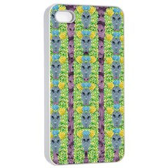 Decorative Summer Girls With Flower Hair Apple Iphone 4/4s Seamless Case (white) by pepitasart