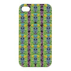 Decorative Summer Girls With Flower Hair Apple Iphone 4/4s Premium Hardshell Case by pepitasart