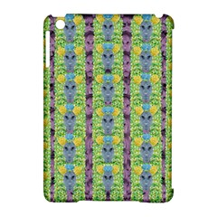 Decorative Summer Girls With Flower Hair Apple Ipad Mini Hardshell Case (compatible With Smart Cover) by pepitasart