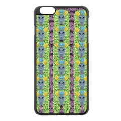 Decorative Summer Girls With Flower Hair Apple Iphone 6 Plus/6s Plus Black Enamel Case by pepitasart