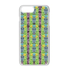 Decorative Summer Girls With Flower Hair Apple Iphone 7 Plus Seamless Case (white) by pepitasart
