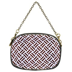 Woven2 White Marble & Reddish Brown Wood (r) Chain Purses (two Sides)  by trendistuff