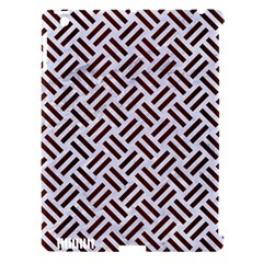 Woven2 White Marble & Reddish Brown Wood (r) Apple Ipad 3/4 Hardshell Case (compatible With Smart Cover) by trendistuff