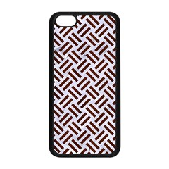 Woven2 White Marble & Reddish Brown Wood (r) Apple Iphone 5c Seamless Case (black)
