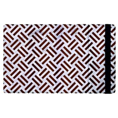 Woven2 White Marble & Reddish Brown Wood (r) Apple Ipad Pro 12 9   Flip Case by trendistuff