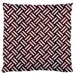 Woven2 White Marble & Reddish Brown Wood Standard Flano Cushion Case (two Sides)