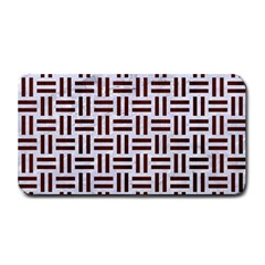 Woven1 White Marble & Reddish Brown Wood (r) Medium Bar Mats by trendistuff