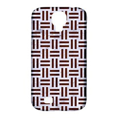 Woven1 White Marble & Reddish Brown Wood (r) Samsung Galaxy S4 Classic Hardshell Case (pc+silicone)
