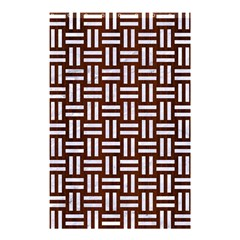 Woven1 White Marble & Reddish Brown Wood Shower Curtain 48  X 72  (small)  by trendistuff