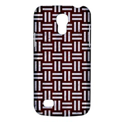 Woven1 White Marble & Reddish Brown Wood Galaxy S4 Mini by trendistuff