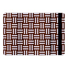 Woven1 White Marble & Reddish Brown Wood Apple Ipad Pro 10 5   Flip Case by trendistuff