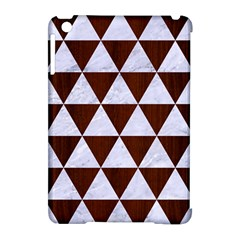Triangle3 White Marble & Reddish Brown Wood Apple Ipad Mini Hardshell Case (compatible With Smart Cover) by trendistuff