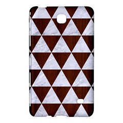 Triangle3 White Marble & Reddish Brown Wood Samsung Galaxy Tab 4 (7 ) Hardshell Case  by trendistuff