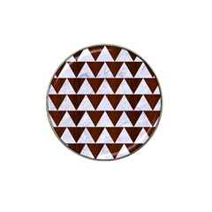 Triangle2 White Marble & Reddish Brown Wood Hat Clip Ball Marker (4 Pack) by trendistuff