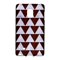 Triangle2 White Marble & Reddish Brown Wood Galaxy Note Edge by trendistuff