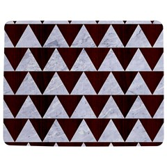 Triangle2 White Marble & Reddish Brown Wood Jigsaw Puzzle Photo Stand (rectangular) by trendistuff