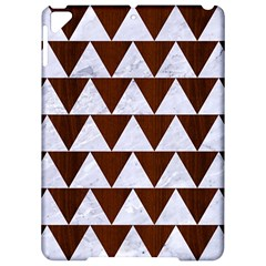Triangle2 White Marble & Reddish Brown Wood Apple Ipad Pro 9 7   Hardshell Case by trendistuff