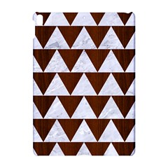 Triangle2 White Marble & Reddish Brown Wood Apple Ipad Pro 10 5   Hardshell Case