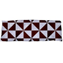 Triangle1 White Marble & Reddish Brown Wood Body Pillow Case Dakimakura (two Sides) by trendistuff