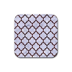 Tile1 White Marble & Reddish Brown Wood (r) Rubber Square Coaster (4 Pack)  by trendistuff