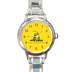 Gadsden Flag Don t Tread On Me Round Italian Charm Watch by snek