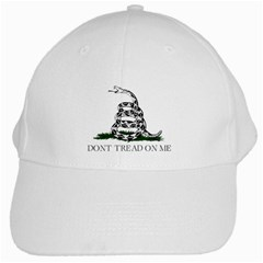 Gadsden Flag Don t Tread On Me White Cap by MAGA