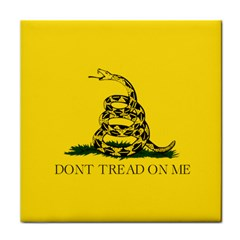 Gadsden Flag Don t Tread On Me Tile Coasters by snek
