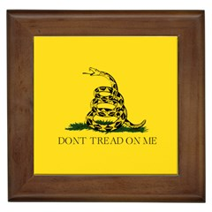 Yellow Gadsden Framed Ceramic Tile by snek