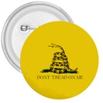 Gadsden Flag Don t tread on me 3  Buttons Front
