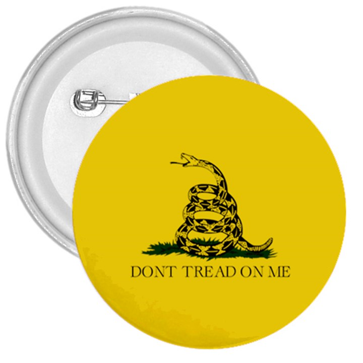Gadsden Flag Don t tread on me 3  Buttons