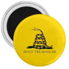 Gadsden Flag Don t Tread On Me 3  Magnets by snek