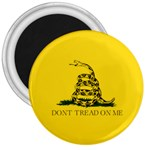 Gadsden Flag Don t tread on me 3  Magnets Front