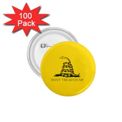 Gadsden Flag Don t Tread On Me 1 75  Buttons (100 Pack)  by MAGA