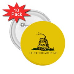 Gadsden Flag Don t Tread On Me 2 25  Buttons (10 Pack)  by MAGA