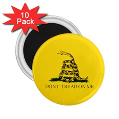 Gadsden Flag Don t Tread On Me 2 25  Magnets (10 Pack)  by snek