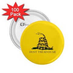 Gadsden Flag Don t Tread On Me 2 25  Buttons (100 Pack)  by MAGA