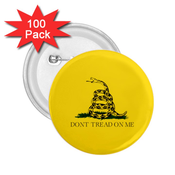 Gadsden Flag Don t tread on me 2.25  Buttons (100 pack)