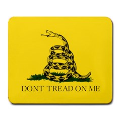 Gadsden Flag Don t Tread On Me Large Mousepads by snek