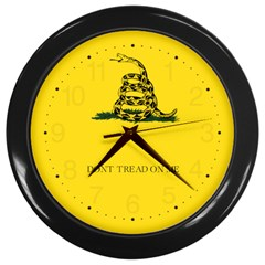 Gadsden Flag Don t Tread On Me Wall Clocks (black) by MAGA