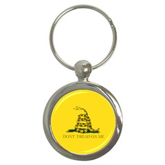 Gadsden Flag Don t Tread On Me Key Chains (round)  by snek