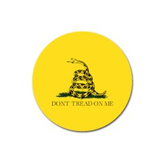 Gadsden Flag Don t Tread On Me Magnet 3  (round) by snek