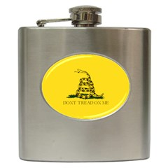 Gadsden Flag Don t Tread On Me Hip Flask (6 Oz) by snek
