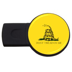 Gadsden Flag Don t Tread On Me Usb Flash Drive Round (2 Gb) by MAGA