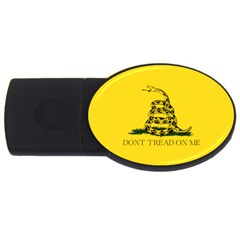 Gadsden Flag Don t Tread On Me Usb Flash Drive Oval (2 Gb) by snek