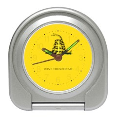 Gadsden Flag Don t Tread On Me Travel Alarm Clocks by snek
