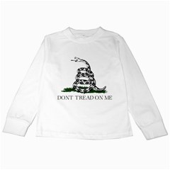 Gadsden Flag Don t Tread On Me Kids Long Sleeve T-shirts by snek